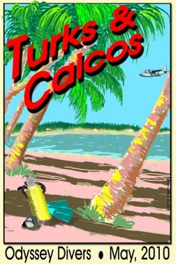 Vintage Travel Poster Line: Caribbean Island